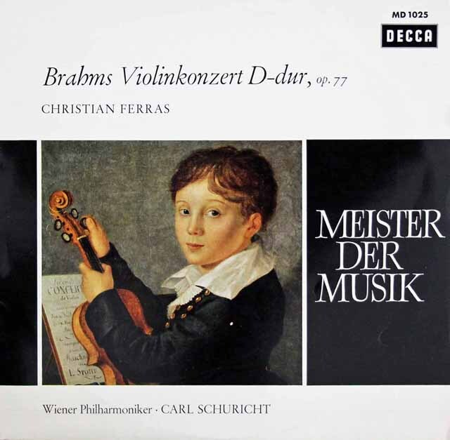 フェラス&シューリヒトのブラームス/ヴァイオリン協奏曲 独DECCA 3220 LP レコード