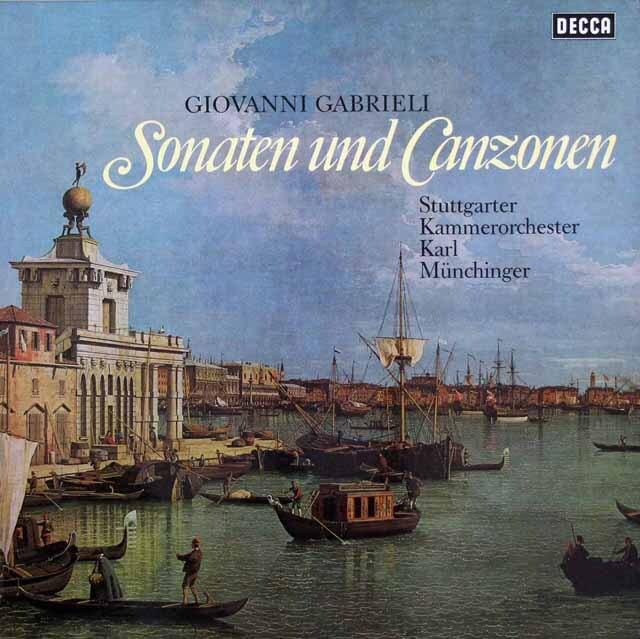 ミュンヒンガーのガブリエリ/ソナタとカンツォン集 独DECCA 3220 LP レコード