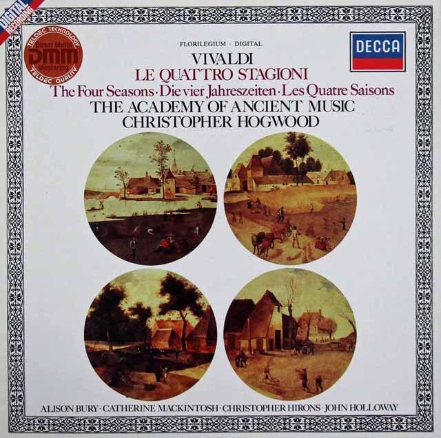 【内袋未開封】 ホグウッドのヴィヴァルディ/「四季」  独DECCA 3220 LP レコード