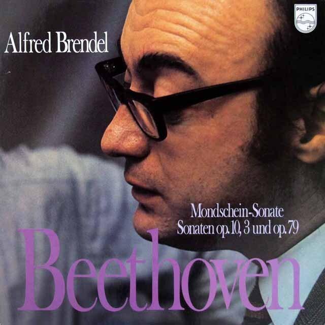 ブレンデルのベートーヴェン/ピアノソナタ 第14番「月光」ほか  蘭PHILIPS 3220 LP レコード