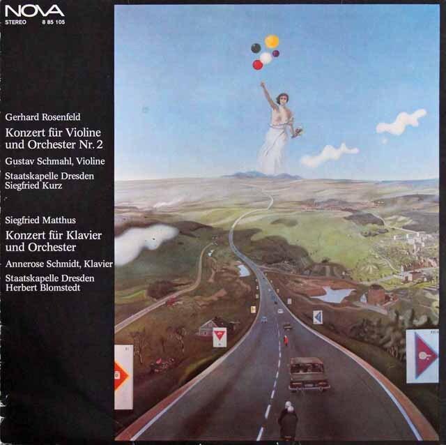 シュマール&クルツのローゼンフェルト/ヴァイオリン協奏曲ほか 東独NOVA 3220 LP レコード