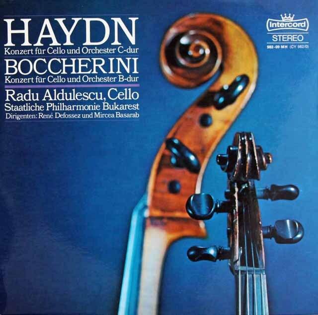 アルドゥレスクのハイドン&ボッケリーニ /チェロ協奏曲 独intercord  3220 LP レコード