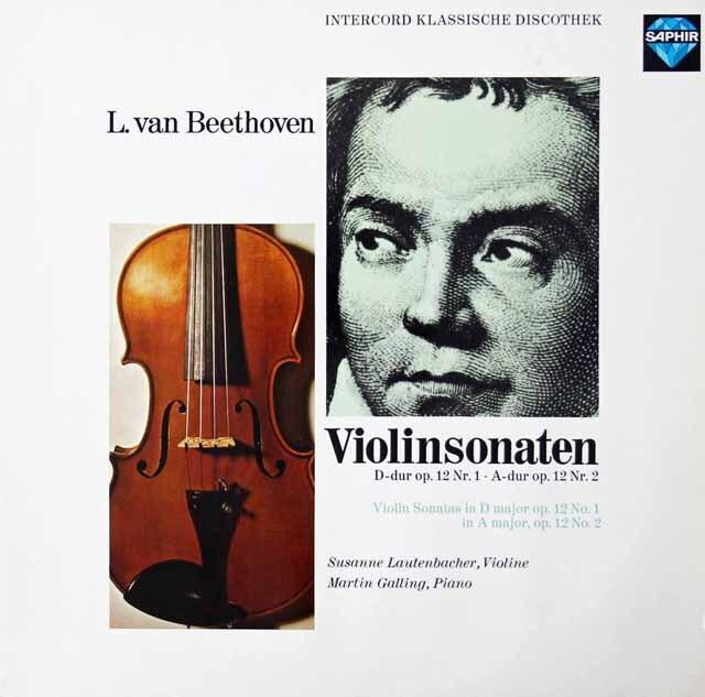 ラウテンバッハーのベートーヴェン/ヴァイオリンソナタ第1&2番 独SAPHIR 3221 LP レコード