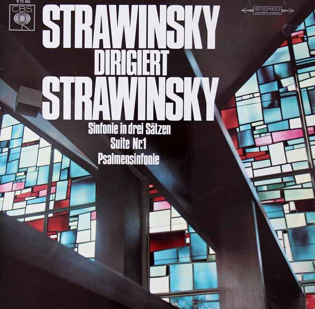 ストラヴィンスキーの自作自演/「3楽章の交響曲」、「詩篇交響曲」ほか 独CBS 3221 LP レコード