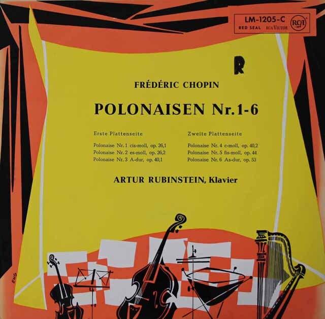ルービンシュタインのショパン/ポロネーズ集 独RCA 3221 LP レコード