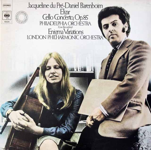 デュ・プレ&バレンボイムのエルガー/チェロ協奏曲ほか 独CBS 3221 LP レコード