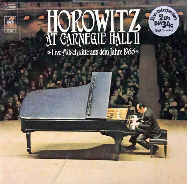 ホロヴィッツの「カーネギー・ホール・リサイタル1966」 独CBS 3221 LP レコード