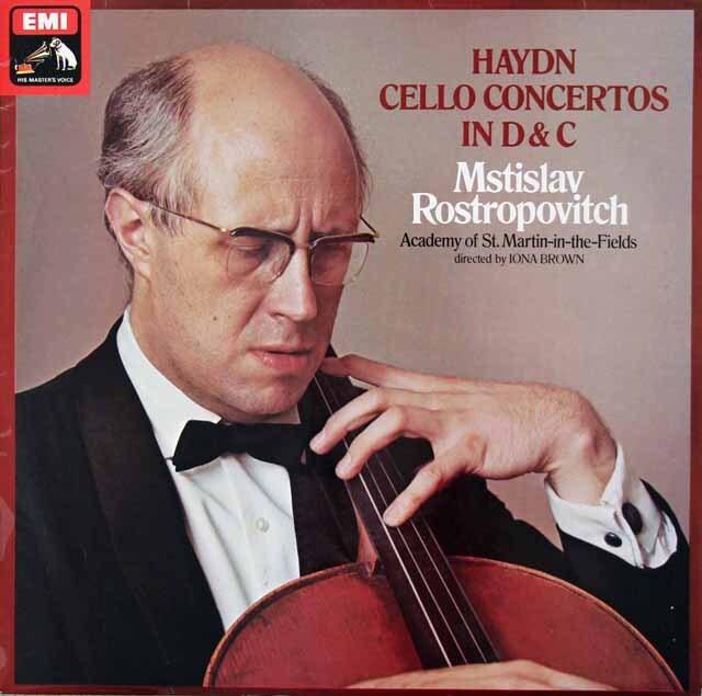 【オリジナル盤】 ロストロポーヴィチのハイドン/チェロ協奏曲第1&2番 英EMI 3221 LP レコード