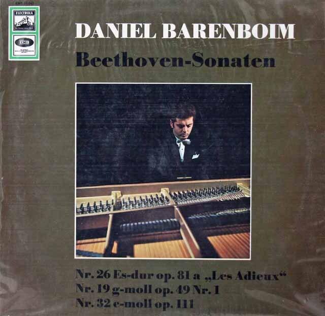 【未開封】 バレンボイムのベートーヴェン/ピアノソナタ第26番「告別」ほか 独EMI 3221 LP レコード