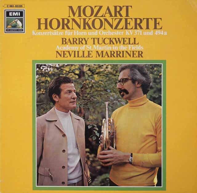 タックウェル&マリナーのモーツァルト/ホルン協奏曲集 独EMI 3221 LP レコード