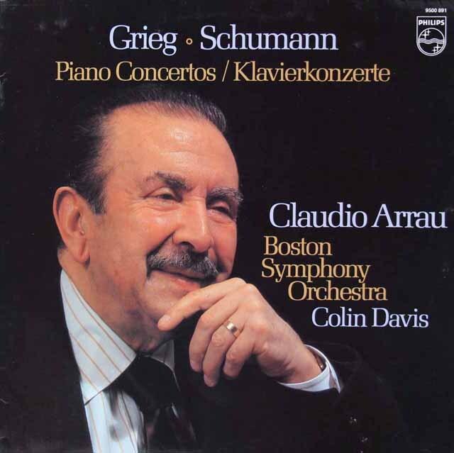アラウ&デイヴィスのグリーグ&シューマン/ピアノ協奏曲集 蘭PHILIPS 3221 LP レコード