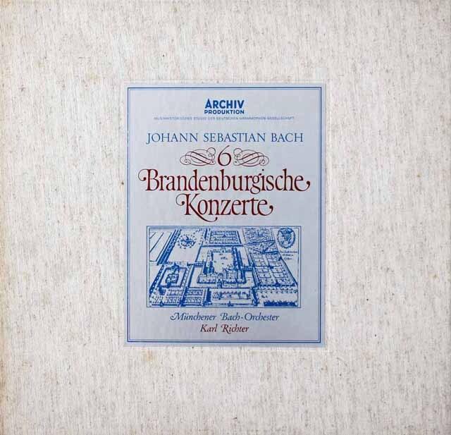 リヒターのバッハ/ブランデンブルク協奏曲全曲 独ARCHIV 3221 LP レコード