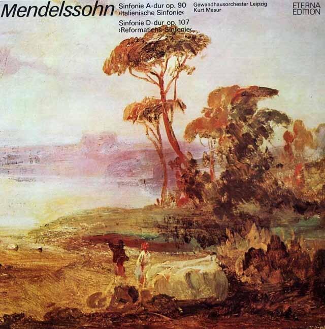 マズアのメンデルスゾーン/交響曲第4番「イタリア」 & 第5番「宗教改革」 独ETERNA 3221 LP レコード
