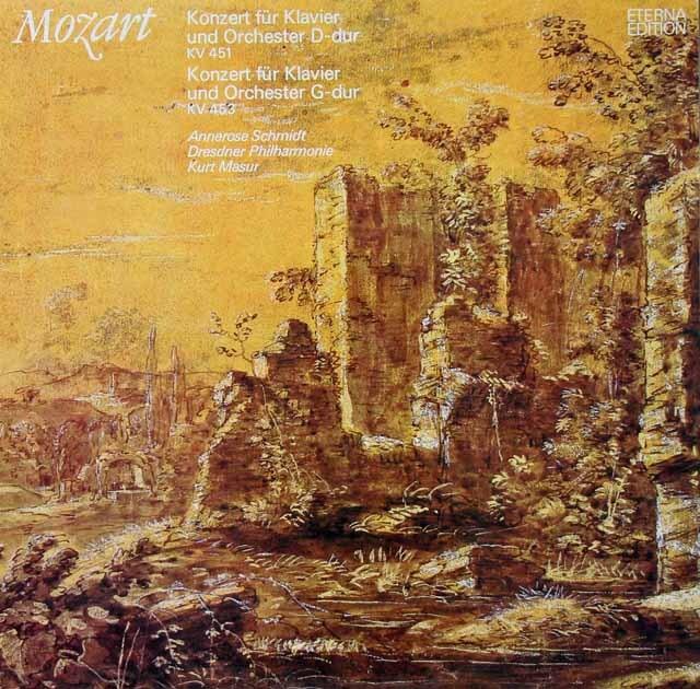 シュミット&マズアのモーツァルト/ピアノ協奏曲第16、17番 独ETERNA 3221 LP レコード