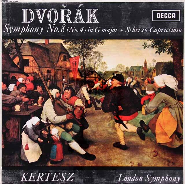 ケルテスのドヴォルザーク/交響曲第8番ほか 英DECCA 3222 LP レコード