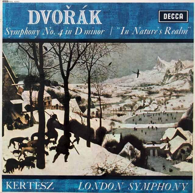 ケルテスのドヴォルザーク/交響曲第4番ほか 英DECCA 3222 LP レコード