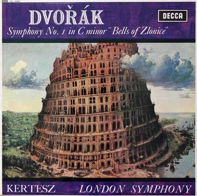 ケルテスのドヴォルザーク/交響曲第1番「ズロニツェの鐘」 英DECCA 3222 LP レコード
