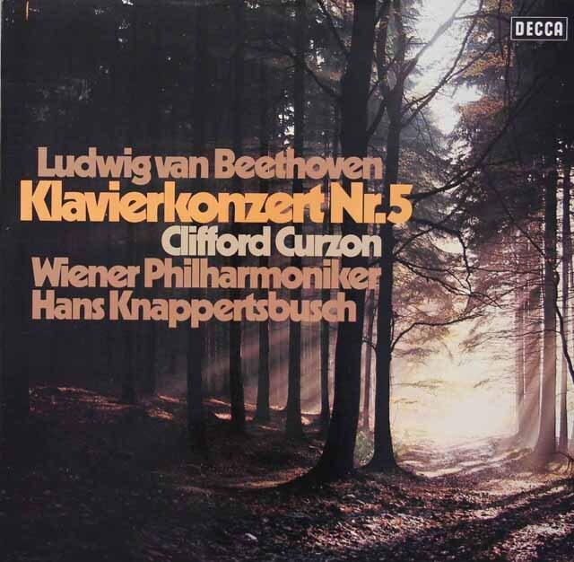 カーゾン&クナッパーツブッシュのベートーヴェン/ピアノ協奏曲第5番「皇帝」 独DECCA 3222 LP レコード