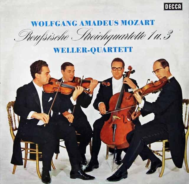 ウェラー四重奏団のモーツァルト/弦楽四重奏曲第21&23番 独DECCA 3222 LP レコード