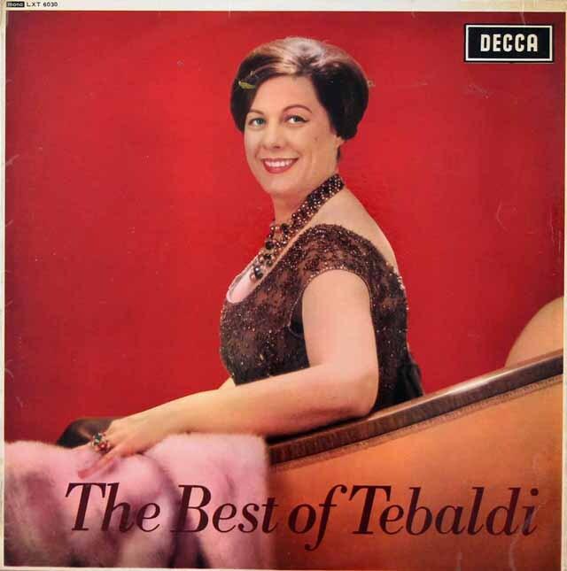 【モノラル】 ザ・ベスト・オブ・テバルディ 英DECCA 3222 LP レコード