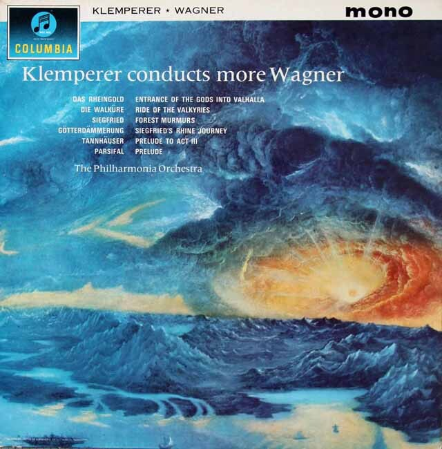 【モノラル】クレンペラーのワーグナー/管弦楽曲集 英Columbia 3222 LP レコード