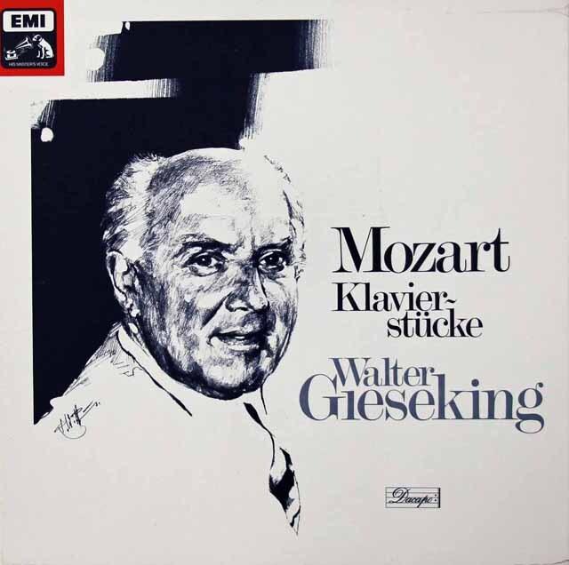 ギーゼキングのモーツァルト/ピアノ作品集 独EMI 3222 LP レコード