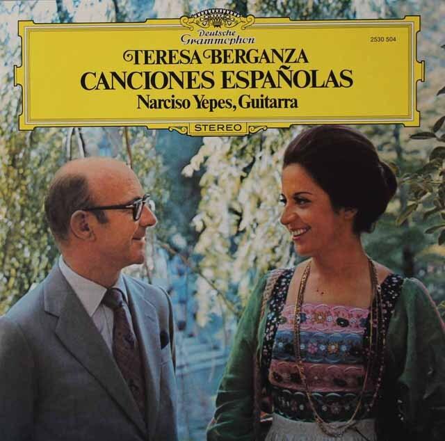 ベルガンサ&イエペスの「スペイン歌曲集」 独DGG 3222 LP レコード
