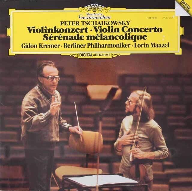 クレーメル&マゼールのチャイコフスキー/ヴァイオリン協奏曲ほか 独DGG 3222 LP レコード