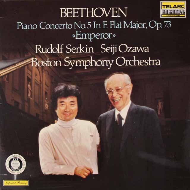 ゼルキン&小澤のベートーヴェン/ピアノ協奏曲第5番「皇帝」 独TELARC 3222 LP レコード
