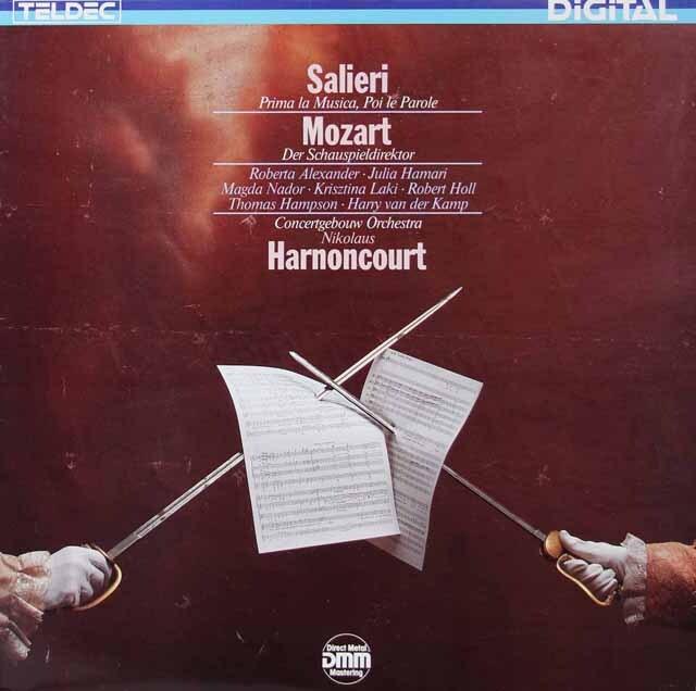 アーノンクールのサリエリ/「はじめに音楽、次に言葉」&モーツァルト/「劇場支配人」 独TELDEC 3222 LP レコード