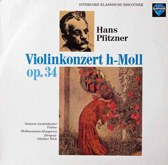 ラウテンバッハーのプフィッツナー/ヴァイオリン協奏曲 独SAPHIR 3222 LP レコード