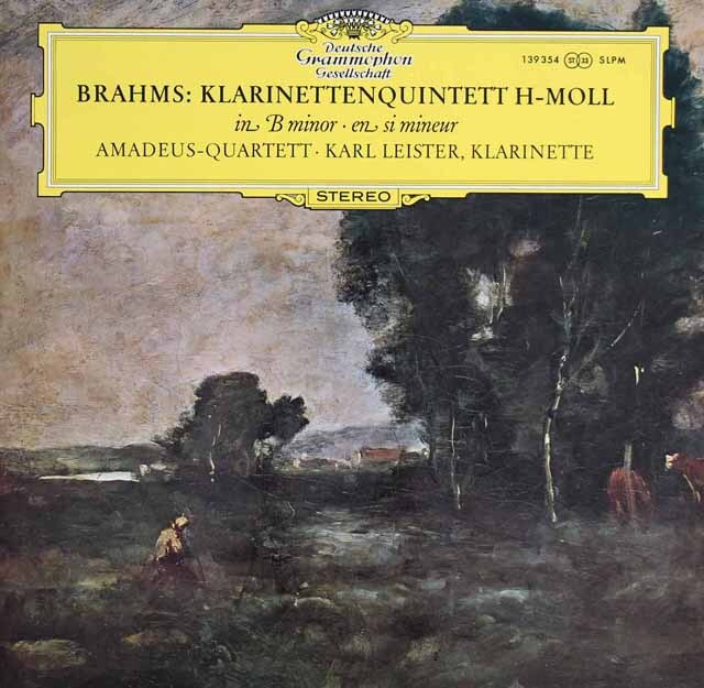 アマデウス四重奏団&ライスターのブラームス/クラリネット五重奏曲 独DGG 3223 レコード