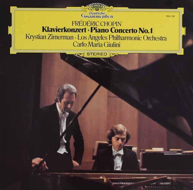 【ばら2枚組】ツィマーマン&ジュリーニのショパン/ピアノ協奏曲第1&2番 独DGG 3223 LP レコード