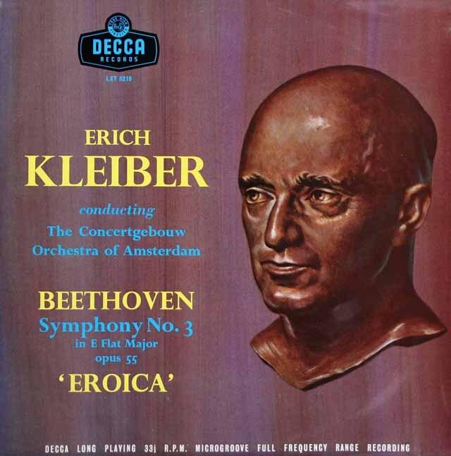 【オリジナル盤】E.クライバーのベートーヴェン/交響曲第3番「英雄」 英DECCA 3223 LP レコード