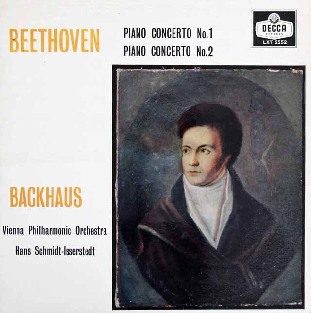 【モノラル】バックハウス&イッセルシュテットのベートーヴェン/ピアノ協奏曲第1&2番 英DECCA 3223 LP レコード