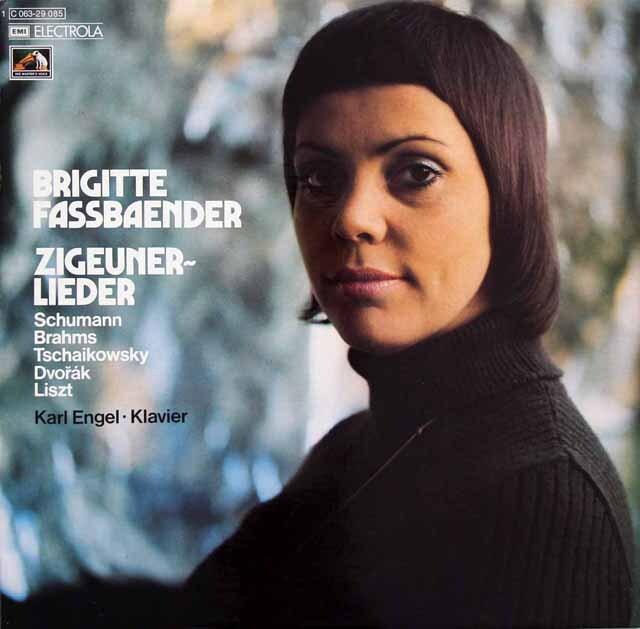 ファスベンダーのシューマン、ブラームスほか/「ジプシーの歌」 独EMI 3223 LP レコード