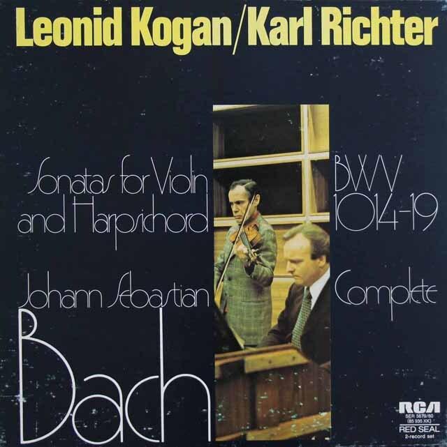 コーガン&リヒターのバッハ/ヴァイオリンとチェンバロのためのソナタ集 英RCA 3223 LP レコード