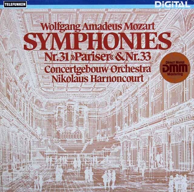 アーノンクールのモーツァルト/交響曲第31番「パリ」&33番 独TELEFUNKEN 3223 LP レコード
