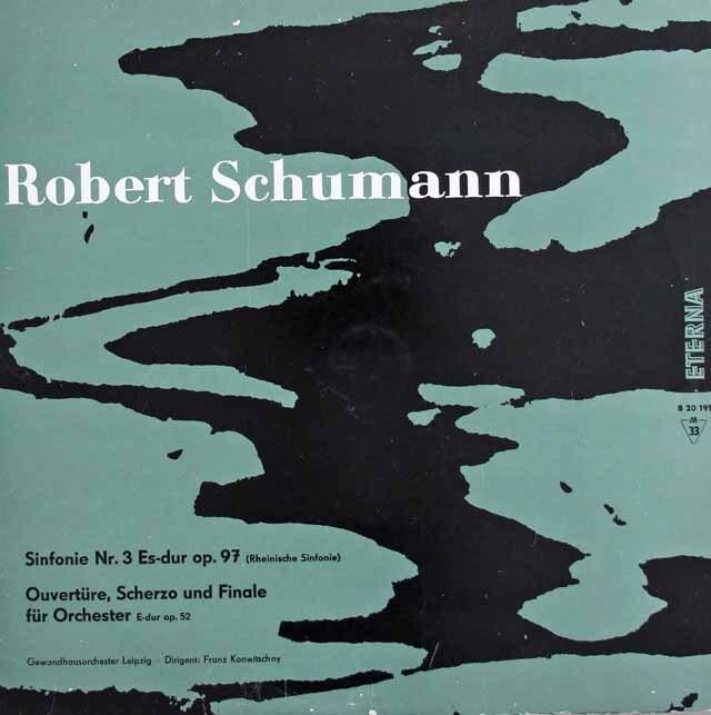 【独初期盤・モノラル】コンヴィチュニーのシューマン/交響曲第3番「ライン」ほか 独ETERNA 3223 LP レコード