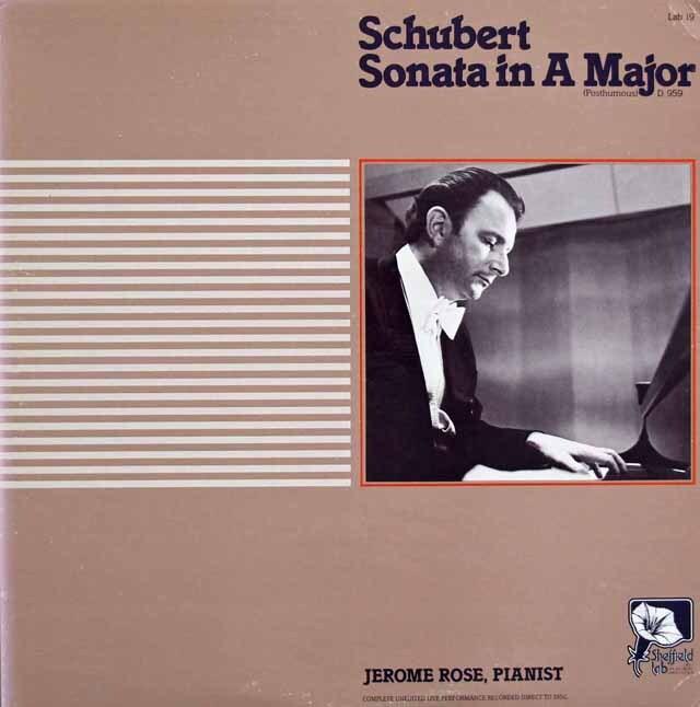 【ダイレクトカット】ローズのシューベルト/ピアノ・ソナタ第20番 米Sheffield 3223 LP レコード