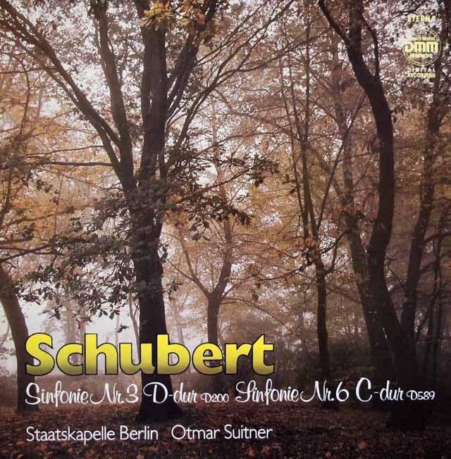スウィトナーのシューベルト/交響曲第3&6番 東独ETERNA 3224 LP レコード