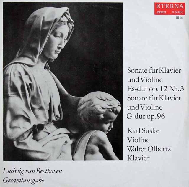 ズスケ&オルベルツのベートーヴェン/ヴァイオリンソナタ第3&10番 東独ETERNA 3224 LP レコード