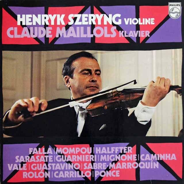 シェリング&マイヨールの「ヴァイオリン小品集」 蘭PHILIPS 3224 LP レコード