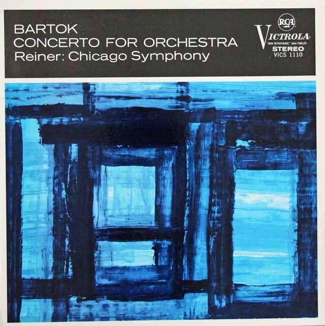 ライナーのバルトーク/管弦楽のための協奏曲 英RCA 3224 LP レコード