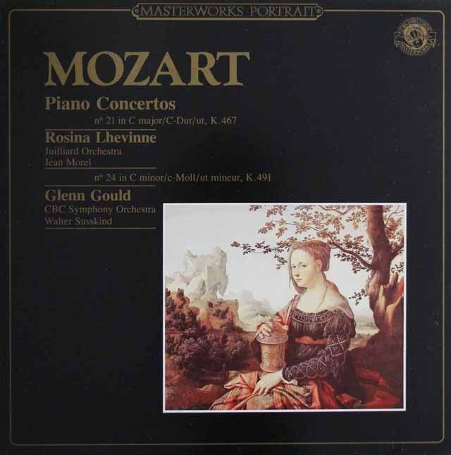 グールドのモーツァルト/ピアノ協奏曲第24番ほか 蘭CBS 3224 LP レコード