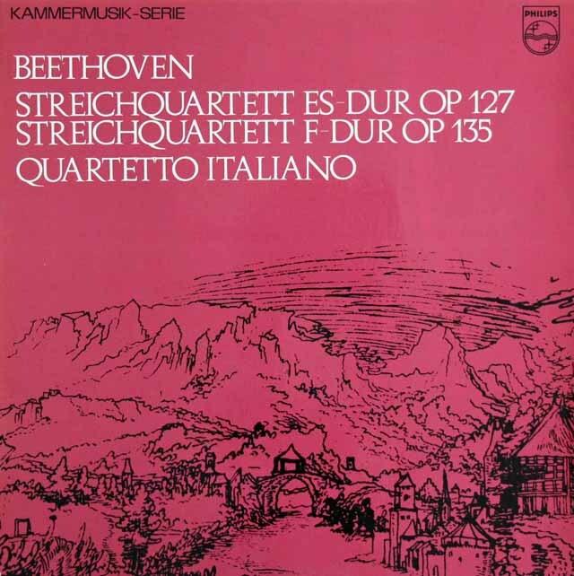 イタリア四重奏団のベートーヴェン/弦楽四重奏曲第12&16番 蘭PHILIPS 3225 LP レコード