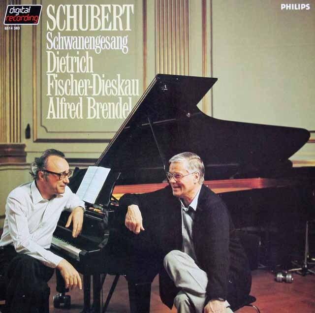 ブレンデル&ディースカウのシューベルト/白鳥の歌 蘭PHILIPS 3225 LP レコード