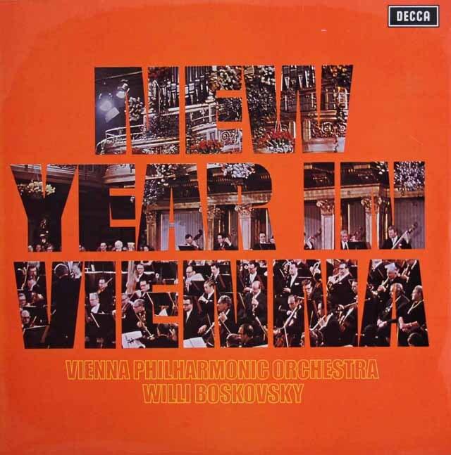 【オリジナル盤】 ボスコフスキー&ウィーンフィルのニュー・イヤー・コンサート 英DECCA 3225 LP レコード
