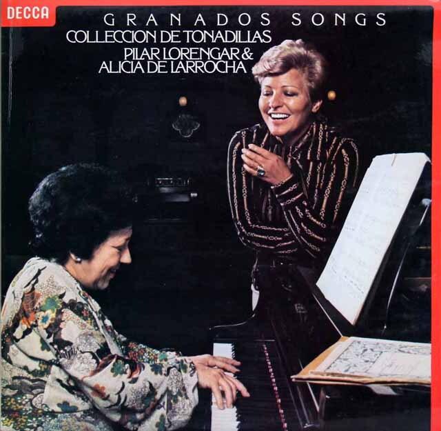 【オリジナル盤】 ローレンガー&ラローチャのグラナドス歌曲集 英DECCA 3225 LP レコード