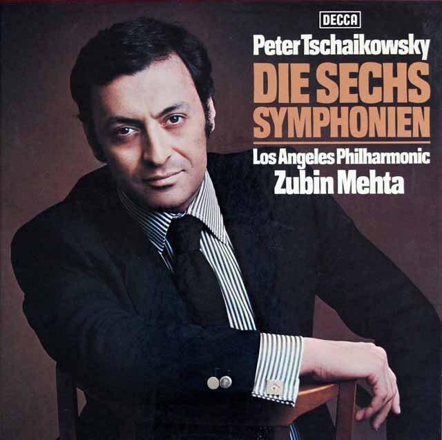 メータのチャイコフスキー/交響曲全集(全6曲) 独DECCA 3225 LP レコード